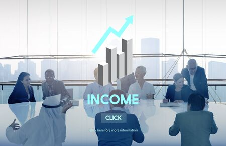 passive earnings: Income Assets Banking Economy Financial Money Concept