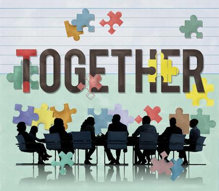 Samen Saamhorigheid team Connection Concept Stockfoto