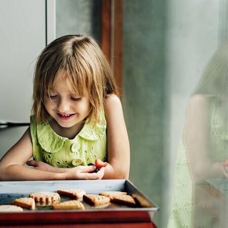 butter icing: Flour Dessert Cookie Dough Cake Bakery Girl Concept