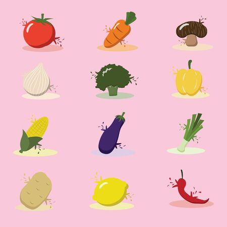 bell tomato: Vegetables Eating Food Healthy Icon Concept