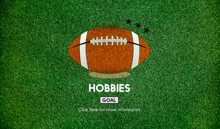 hobbies: Hobbies Football Ball Rugby Game Concept Stock Photo