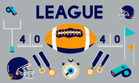 football tackle: League Sport Fitness Exercise Training Teamwork Winner Concept