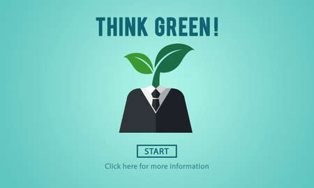 Think Green Ecology Environmental Conservation Concept Stock fotó