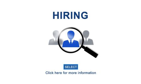 job opportunity: Hiring Occupation Recruitment Headhunting Jobs Concept Stock Photo