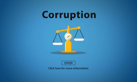 corruption: Corruption Bribe Cheat Illegal Money Finance Concept