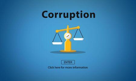 corruption: Corruption Bribe Cheat Illegal Money Finance Concept