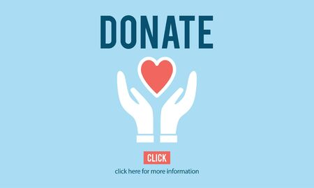give: Donate Charity Give Help Offering Volunteer Concept