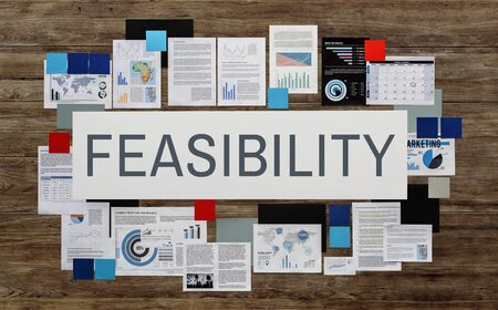 feasible: Feasibility Feasible Possibility Potential Useful Concept Stock Photo
