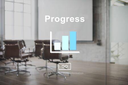 Progress Mission Move Forward Improvement Concept Stock Photo