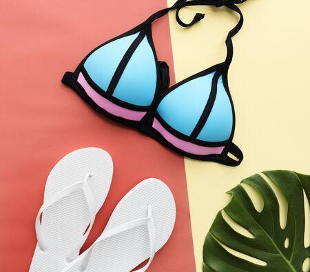 copyspace: Summer Mockup Copyspace Bikini Sandals Concept