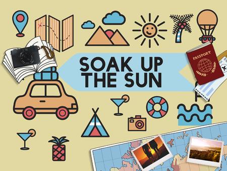 break in: Travel Vacation Sun Fun Enjotment Concept