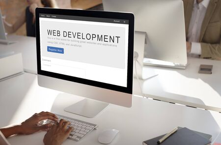 homepage: Website Development Internet Homepage Layout Concept