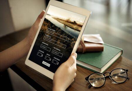 flight booking: Flight Booking Plane Travel Journey Concept