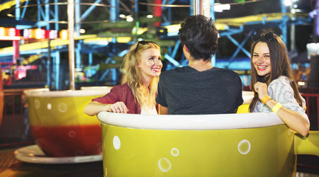 carnival ride: Friends Hangout Carnival Ride Fun Smiling Concept