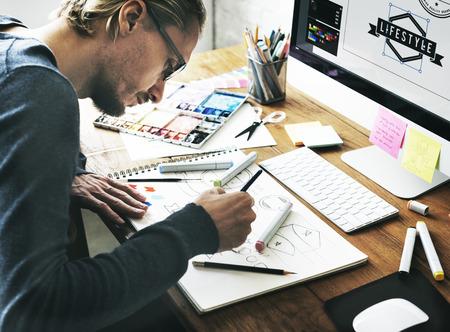 Artist Creative Designer Illustrator Graphic Skill Concept Reklamní fotografie