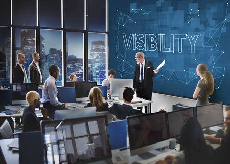Vision Visibilité Observable Concept Sensiblement Graphic Banque d'images