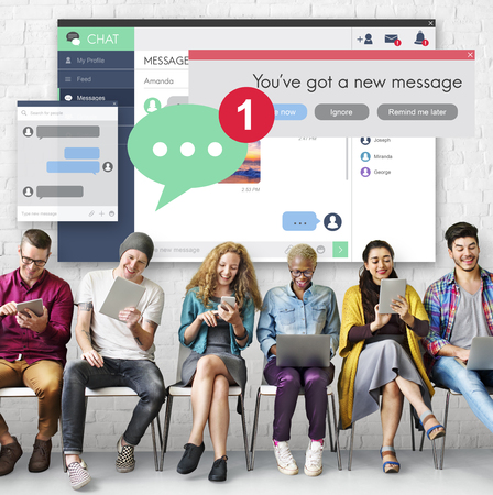 new message: New Message Texting Connection Communication Concept