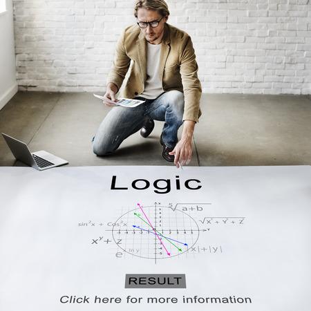 Logica Intelligence Rational Solution Reden Ideeën Concept Stockfoto