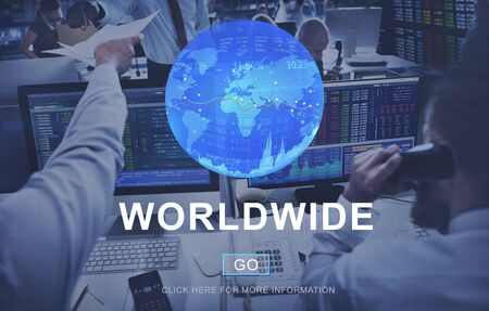 hectic: Global Business Worldwide Assessment Concept