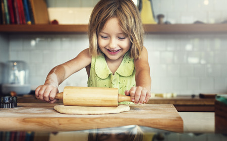 Bake Bakery Baker Chef Child Leisure Hobby Girl Concept