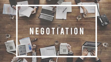 Negocjacje Umowa Deal Współpraca Talk Concept