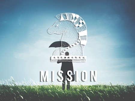 failed plan: Mission Aim Aspiration Core Values Inspiration Concept Stock Photo