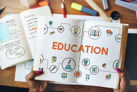literacy instruction: Education Study Learning Knowledge Information Concept Stock Photo