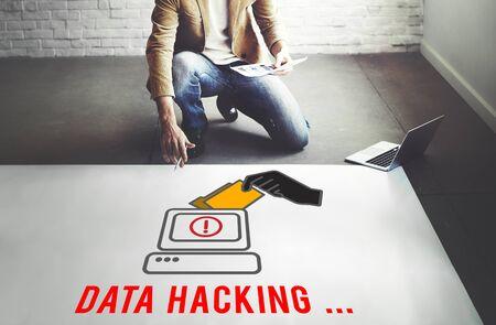 spyware: Hacker Spyware Cybercrime Phishing Fraud Concept Stock Photo