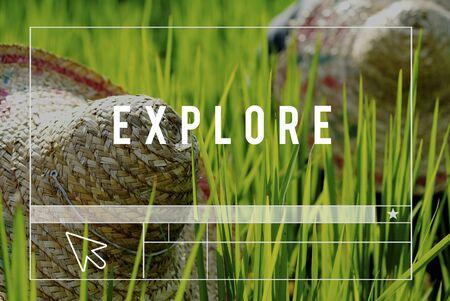 labelling: Explore Life Earth Green Environment Concept