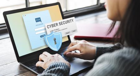 Cyber ??Sécurité Pare-feu de confidentialité Concept