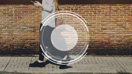 brick road: Photography Lens Icon Graphic Concept Stock Photo