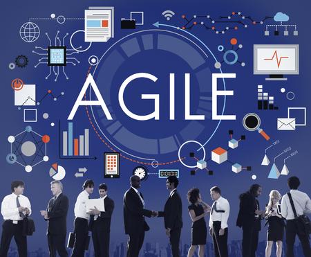 Agile Agilité Nimble rapide rapide Volant Concept Banque d'images - 60044036