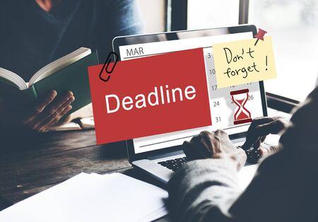 planner: Deadline Note Calendar Planner Concept