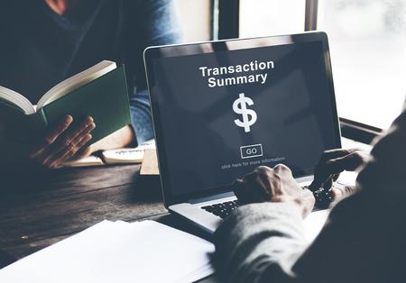 cuadro sinoptico: Resumen de transacciones concepto de contabilidad corporativa Foto de archivo