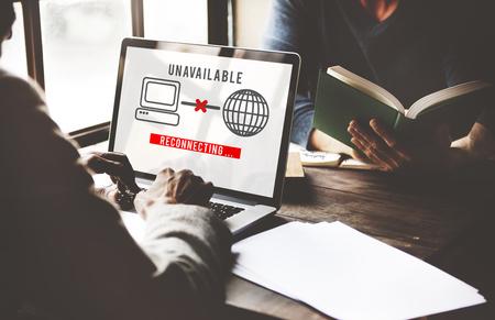 disconnection: Unavailable Denied Disconnected Error Problem Concept Stock Photo