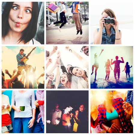 trato amable: Amigos Fellowship Placer Satisfacci�n del concepto social Foto de archivo