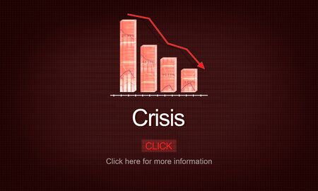 turning point: Crisis Critical Point Economy Emergency Risk Concept