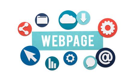 webpage: Webpage Internet Social Media Networking Web Concept