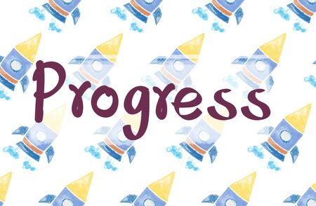 progressive art: Progress Advance Better Development Growth Concept Stock Photo