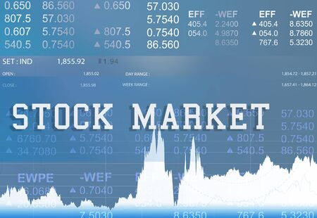shares: Stock Market Exchange Global Finance Shares Concept