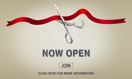 ribbon cutting: New Business Ribbon Cutting Celebration Event Concept