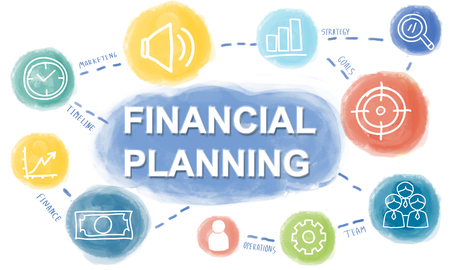 planning: Graphic Business Financial Planning Concept