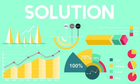 percentage: Solution Percentage Business Chart Concept