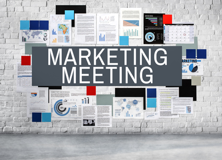 briefing: Marketing Meeting Planning Briefing Concept Stock Photo