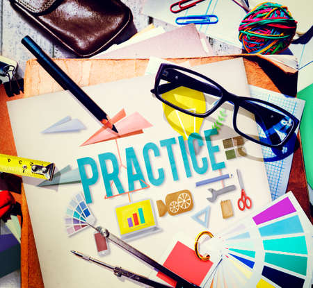 Practice Method Observe Operation Perform Utilize Concept Stock Photo