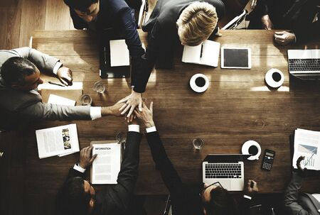 teamwork people: Business People Teamwork Collaboration Relation Concept Stock Photo