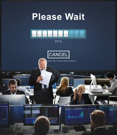 anticipation: Please Wait Loading Waitng Trasfer Anticipation Concept Stock Photo