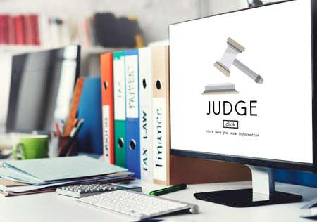 magistrate: Judge Justice Judgement Legal Fairness Law Gavel Concept