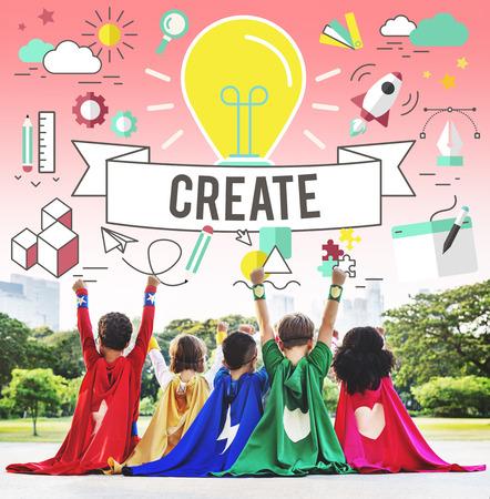 winning proposal: Create Ideas Imagination Plan Thinking Concept Stock Photo
