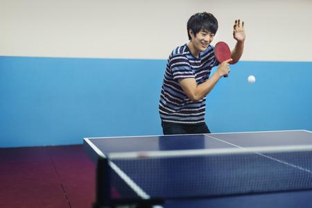 tabletennis: Table-Tennis Athlete Ping-Pong Sportman Sport Concept Stock Photo